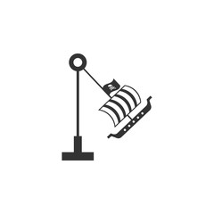 swing boat viking icon. Amusement park element icon. Premium quality graphic design. Signs, outline symbols collection icon for websites, web design, mobile app, info graphics