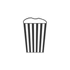 popcorn icon. Amusement park element icon. Premium quality graphic design. Signs, outline symbols collection icon for websites, web design, mobile app, info graphics