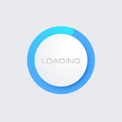 Blue Loading Bar for Web Interfaces. Template
