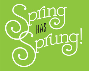 Spring Has Sprung Vector Design.