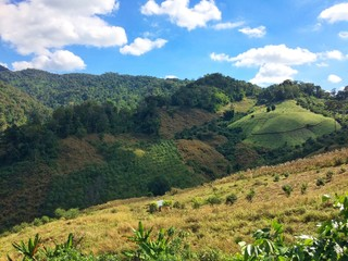 Countryside landscape on Wiang sa, Nan, Thailand