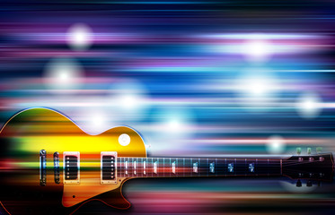 abstract background with classic electric guitar