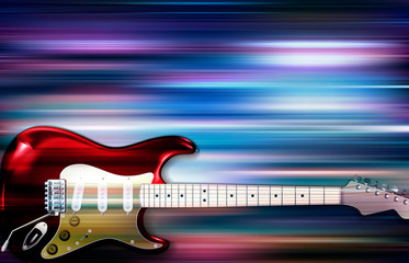 abstract background with electric guitar