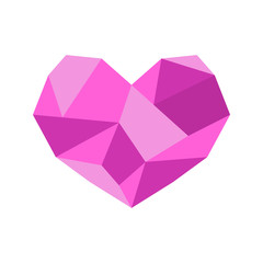 Diamond Heart Shape Vector Illustration Graphic