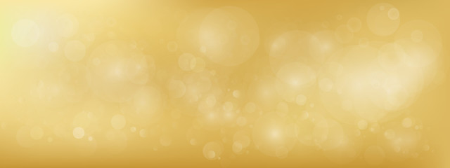 luxury Gold bokeh vector image for background.
