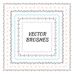Decorative vector brushes with inner and outer corner tiles. Can use for dividers, borders and ornaments.