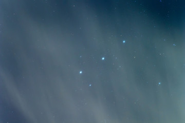 Orion Belt, Cloudy Night sky Background