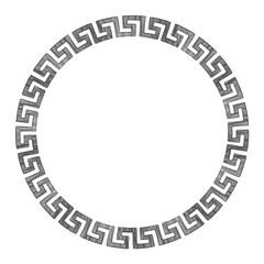 Ancient Greek round ornament.