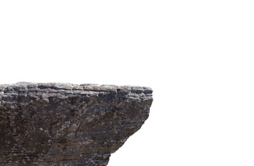 Rocky cliff isolated on a white background Wall mural