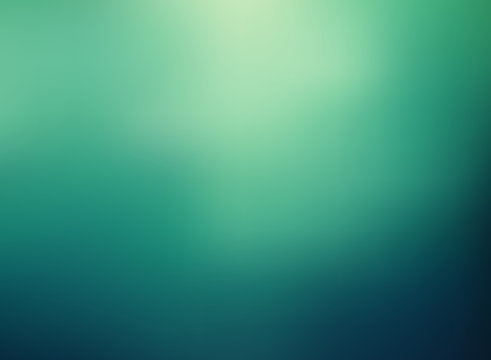 Abstract green color gradient blurred background.