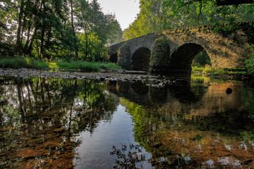 Steinbrücke im Wald