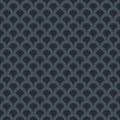 Black seamless pattern with geometric ornament