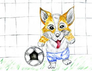 Football Dog Art