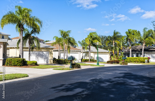 Gated community houses in South Florida, United States