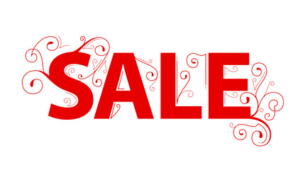 SALE banner with ornamental swashes