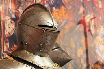 Armor of the medieval knight.