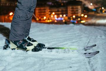 ski legs close up