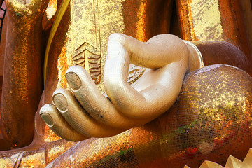 close up buddha hand