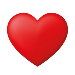 Perfect red heart - stock vector.