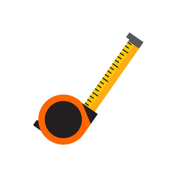 Simple Tape Measure Tool Vector Illustration Graphic
