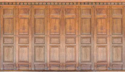 antique thai style wooden wall