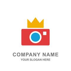 Camera Photography Crown Lens Shutter Logo Vector Icon