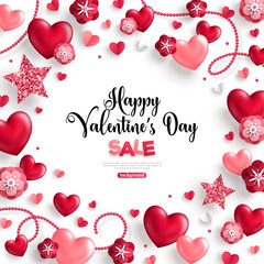 Happy saint valentine's day sale on white