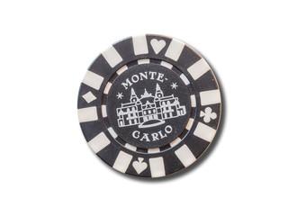 Monte Carlo (Monaco) souvenir refrigerator magnet isolated on white background