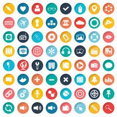 App icon set for websites. Flat vector illustration