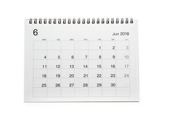 Minimal desk calendar 2018 isolated