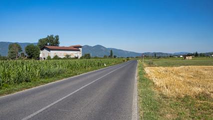 Country landscape between Rieti (Lazio) and Terni (Umbria)
