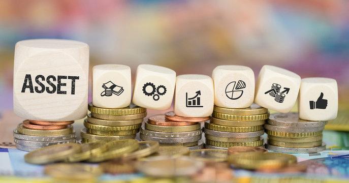 Asset / Münzenstapel mit Symbole