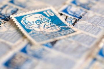 alte Briefmarke Virchow
