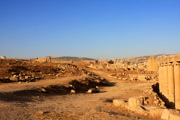 Ruins of the Roman city of Gerasa, Jerash, Jordan