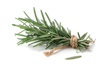 rosemary isolated on white background Wall mural