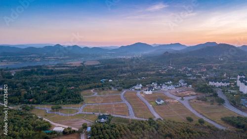 Aerial View From Drone Landscape Of Pak Chong District Stockfotos Und Lizenzfreie Bilder Auf Fotolia