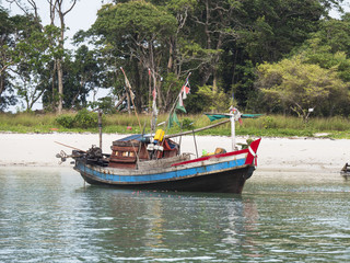 Fishing boat in Southern Myanmar