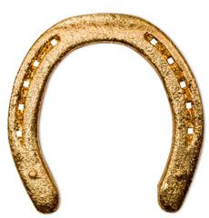 fer à cheval doré