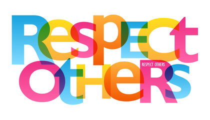 RESPECT OTHERS Typography Poster