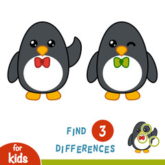 Find differences, Penguin