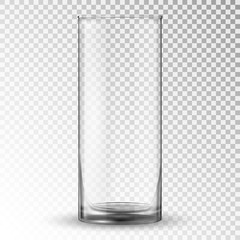 Empty realistic drinking glass cup.