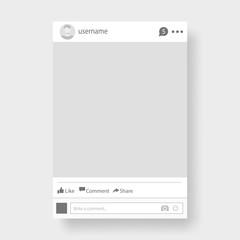 Social network photo frame vector illustration.