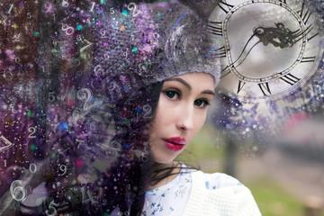 Woman alien in numerology world