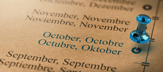 Focus on October, Months of the Year Calendar