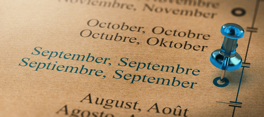 Focus on September, Months of the Year Calendar