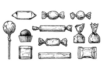 illustration of different sweets