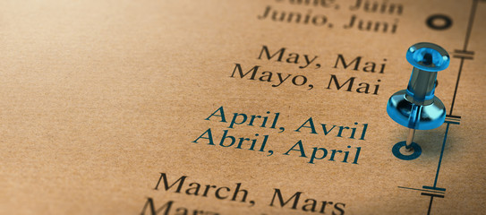 Focus on April, Months of the Year