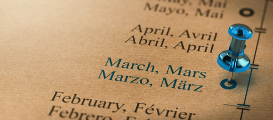 Months of the Year, March