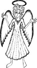 Cute praying angel