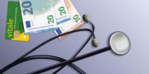 Stéthoscope - santé - médecine - cœur - consultation - symbole - médical - médecin